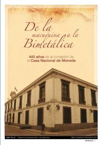 De la. Bimetálica. 445 años de la fundación de la Casa Nacional de Moneda. moneda 39
