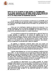 DE LA LEY REGULADORA DE HACIENDAS LOCALES