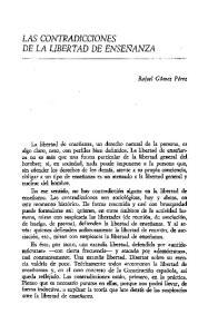 DE LA LIBERTAD DE ENSEf.lANZA