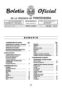 DE LA PROVINCIA DE PONTEVEDRA