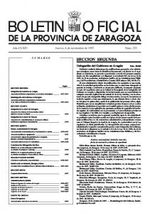 DE LA PROVINCIA DE ZARAGOZA