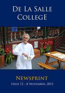 De La Salle CollegE. Newsprint
