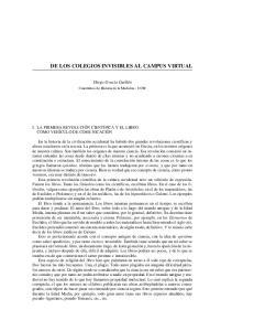 DE LOS COLEGIOS INVISIBLES AL CAMPUS VIRTUAL