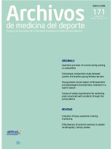 de medicina del deporte Órgano de expresión de la Sociedad Española de Medicina del Deporte