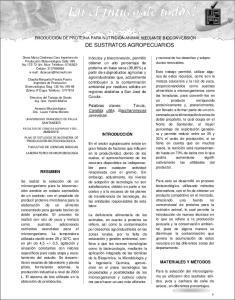 DE SUSTRATOS AGROPECUARIOS