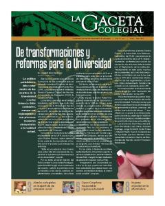 De transformaciones y reformas para la Universidad