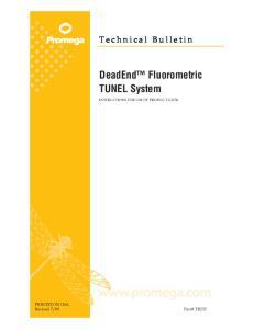 DeadEnd Fluorometric TUNEL System