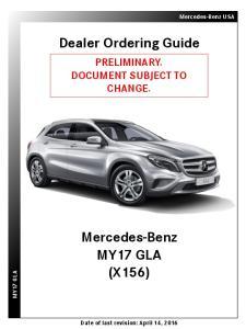 Dealer Ordering Guide