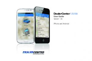 DealerCenter Mobile User Guide