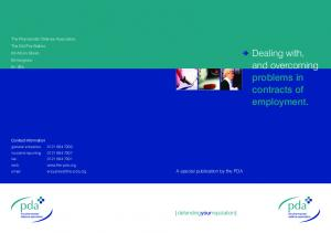 Dealing with, and overcoming problems in contracts of employment