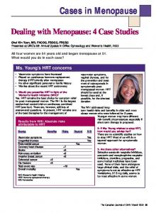 Dealing with Menopause: 4 Case Studies