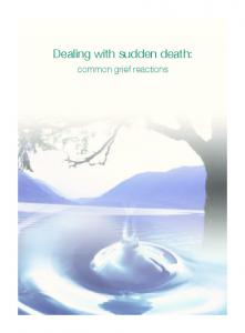 Dealing with sudden death: common grief reactions