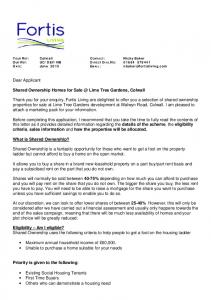 Dear Applicant. Shared Ownership Homes for Lime Tree Gardens, Colwall