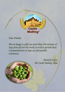 Dear Friends, Sincerely yours, The Castle Malting Team
