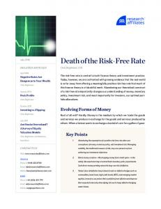Death of the Risk-Free Rate
