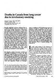 Deaths in Canada from lung cancer due to involuntary smoking