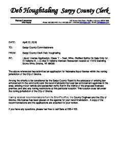 Deb Houghtaling Sarpy County Clerk