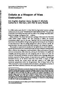 Debate as a Weapon of Mass Destruction
