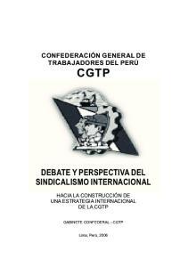 DEBATE Y PERSPECTIVA DEL SINDICALISMO INTERNACIONAL