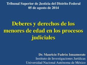 Deberes y derechos de los menores de edad en los procesos judiciales