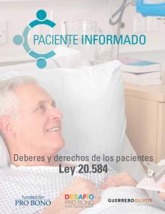 Deberes y derechos de los pacientes. Ley