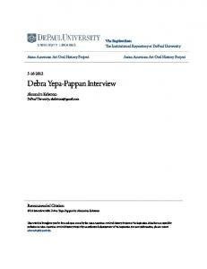 Debra Yepa-Pappan Interview