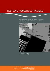 DEBT AND HOUSEHOLD INCOMES