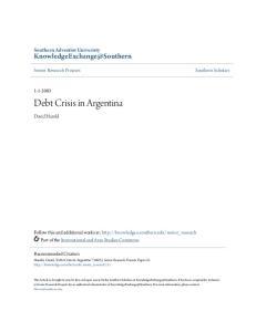 Debt Crisis in Argentina