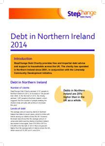 Debt in Northern Ireland 2014
