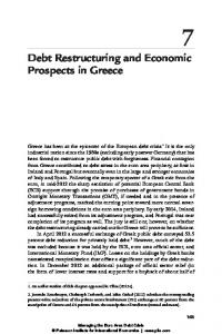 Debt Restructuring and Economic Prospects in Greece