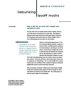 Debunking layoff myths