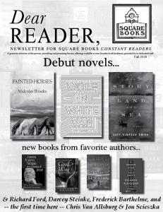 Debut novels... new books from favorite authors