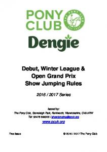 Debut, Winter League & Open Grand Prix Show Jumping Rules