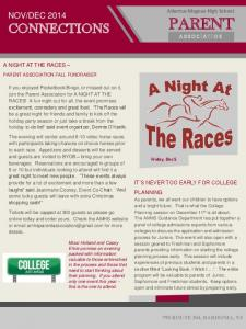 DEC Albertus Magnus High School A NIGHT AT THE RACES IT S NEVER TOO EARLY FOR COLLEGE PLANNING