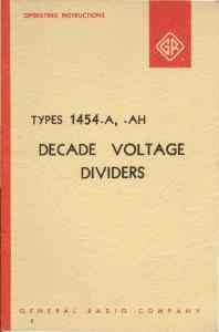 DECADE VOLT AGE DIVIDERS