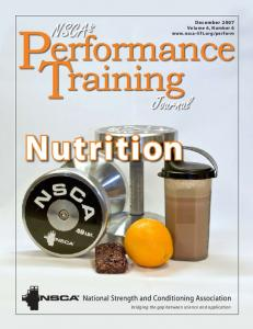 December 2007 Volume 6, Number 6  Nutrition
