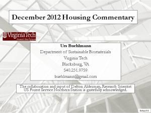 December 2012 Housing Commentary