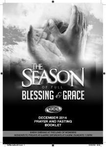 december 2014 fasting & prayer