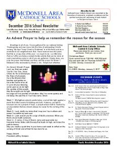 December 2016 School Newsletter