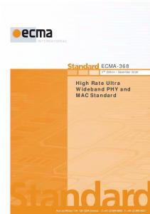 December High Rate Ultra Wideband PHY and MAC Standard