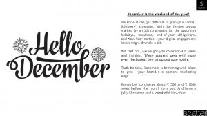 December is the weekend of the year!