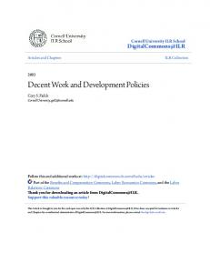 Decent Work and Development Policies