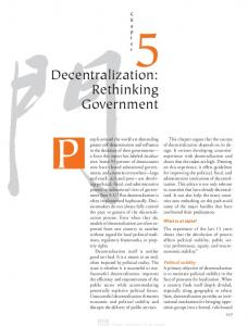 Decentralization: Rethinking Government