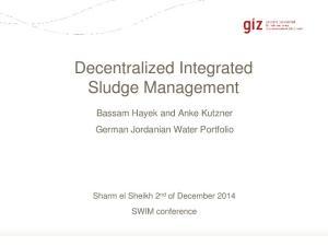 Decentralized Integrated Sludge Management