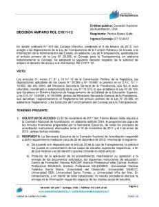 DECISIÓN AMPARO ROL C