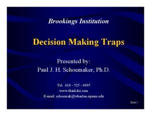 Decision Making Traps
