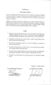 DECISIÓN No. 59 DECIDE: