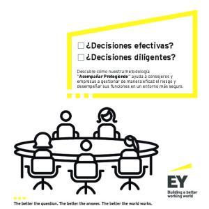 Decisiones efectivas? Decisiones diligentes?