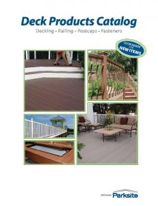Deck Products Catalog