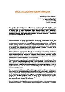 DECLARACIÓN DE BUENAVENTURA